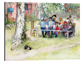 Alluminio Dibond  Breakfast under the Big Birch - Carl Larsson