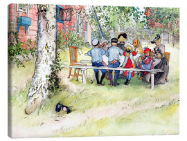 Tela  Breakfast under the Big Birch - Carl Larsson