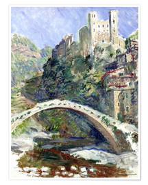 Poster Premium  Castle of Dolceacqua - Claude Monet