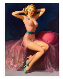 Poster Premium  Pin Up in Pink - Art Frahm