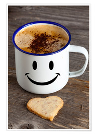 Poster Premium Cup with smiley face