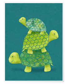 Poster Premium  Turtle Stack - Lindsey Rounbehler