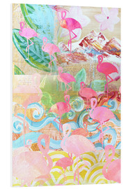 Stampa su schiuma dura  Flamingo Collage - GreenNest