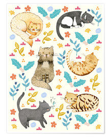 Poster Premium Cat family II