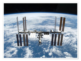 Poster Premium Space station of Space Shuttle Atlantis
