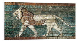 Stampa su schiuma dura  Lion mosaic at the temple of Babylon