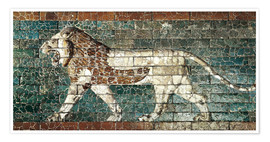 Poster Premium  Lion mosaic at the temple of Babylon
