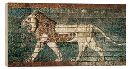 Stampa su legno  Lion mosaic at the temple of Babylon