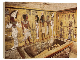 Stampa su legno  Grave of Tutankhamun in the Valley of the Kings