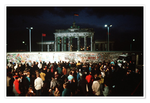 Poster Premium Fall of the Berlin Wall