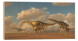 Stampa su legno  A herd of Argentinosaurus dinosaurs - Corey Ford