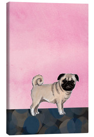 Stampa su tela  Pug dog - Martine Vuitton-Serape