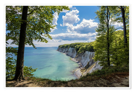 Poster Premium Chalk cliff on the island Ruegen in Germany