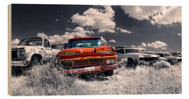 Stampa su legno  Route66 - car dump - Michael Rucker