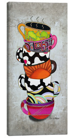 Stampa su tela  Stacked Hot Cuppa Collection 1 - Megan Duncanson