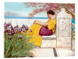 Stampa su vetro acrilico  Under The Blossom That Hangs On The Bough - John William Godward