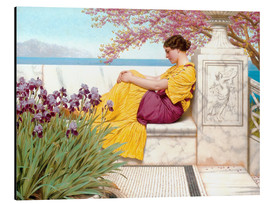 Stampa su alluminio  Under The Blossom That Hangs On The Bough - John William Godward