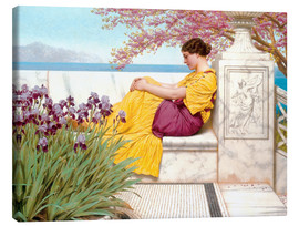 Stampa su tela  Under The Blossom That Hangs On The Bough - John William Godward