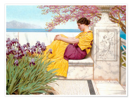 Poster Premium  Under The Blossom That Hangs On The Bough - John William Godward