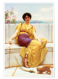 Poster Premium  Idleness - John William Godward
