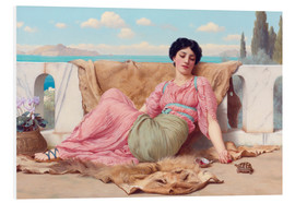 Stampa su schiuma dura  A Quiet Pet - John William Godward