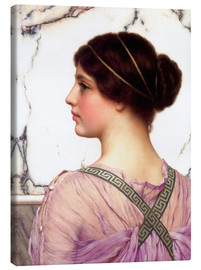 Stampa su tela  A Grecian Lovely - John William Godward