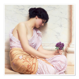 Poster Premium  Violets, sweet violets - John William Godward