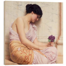 Stampa su legno  Violets, sweet violets - John William Godward