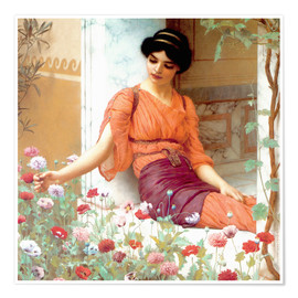 Poster Premium  Summer Flowers - John William Godward