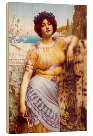 Stampa su legno  Ionian Dancing Girl - John William Godward