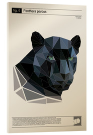 Vetro acrilico  fig6 Polygonpanther Poster - Labelizer