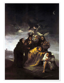 Poster Premium  The Spell, The Witches - Francisco José de Goya