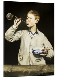 Stampa su vetro acrilico  Boy blowing bubbles - Edouard Manet