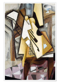 Poster Premium  Guitar on a Chair - Juan Gris