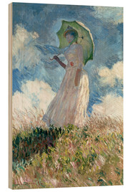 Legno  Woman with parasol turned to the left - Claude Monet