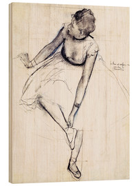 Legno  Dancer adjusting her shoe - Edgar Degas