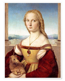 Poster Premium  Woman with an unicorn - Raffael
