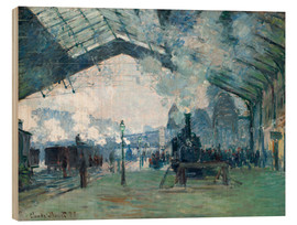 Legno  Gare de Saint Lazare: the train from Normandy - Claude Monet