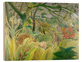 Legno  Tiger in a tropical storm - Henri Rousseau