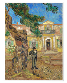 Poster Premium  Hospital St. Paul at Saint-Rémy-de-Provence - Vincent van Gogh