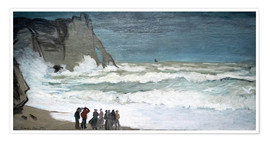 Poster Premium  Rough Sea at Étretat - Claude Monet