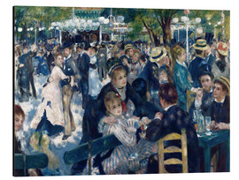 Alluminio Dibond  Ball at the Moulin de la Galette - Pierre-Auguste Renoir