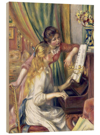 Legno  Two girls at the piano - Pierre-Auguste Renoir