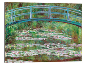 Stampa su alluminio  Waterlily Pond - Claude Monet
