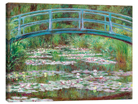 Stampa su tela  Waterlily Pond - Claude Monet