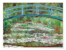 Poster Premium  Waterlily Pond - Claude Monet