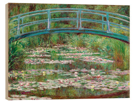 Legno  Waterlily Pond - Claude Monet