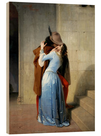 Stampa su legno  The kiss - Francesco Hayez