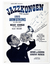 Poster Premium  Louis Armstrong New Orleans
