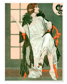 Poster Premium  Lady writing - Clarence Coles Phillips